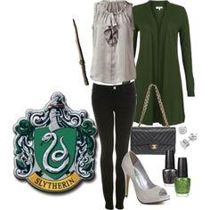 Slytherin style. Harry Potter fashion:)