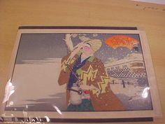Japanese Woodblock Print by Tetsu Sai vintage art 1910 by MAYSVTG, $325.90