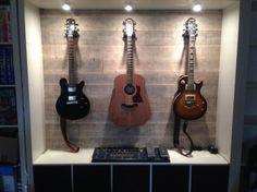 EXPEDIT Guitar Display - IKEA Hackers http://www.ikeahackers.net/2014/04/expedit-guitar-display.html