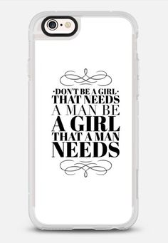 Be a girl iPhone 6s case by lescapricesdefilles | Casetify