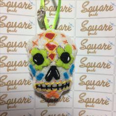 teschio messicano #Squaremade #feltro #pannolenci #handmade #madewithlove #miecreazioni