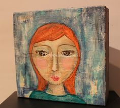 #mixedmediapainting #painting #girlpainting #diycanvas #upcycleart #recycleart