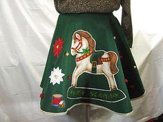 Ugly Green Christmas Sweater Circle Skirt Adjustable Regular Plus Size