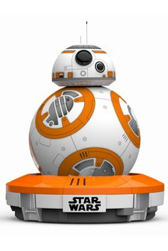 BB-8 by SpheroPrice: $150This is the droid you're looking for. The Sphere BB-8 toy is voice activated and controlled by an app, but it also has a mind of its own, thanks to some autonomous behavior and a personality that adapts as you play with it. You can also record and view holographic images with this spherical robot.  #refinery29 http://www.refinery29.com/tech-gifts-cool-gadgets#slide-16