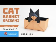 Origami Cat Instructions, Origami Box Tutorial, Cat Basket, Paper Art, Diy And Crafts, Creative, Paper Boxes, Youtube, Handmade