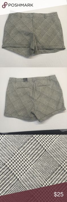 Torrid Houndstooth Dressy Shorts Very cute dressy shorts from torrid! Mixed houndstooth print. Faux pockets. Hidden button, clasp, and fly closure. Roll cuff. Belt loops. Size 22. New with tags, undamaged. Smoke and pet free home. torrid Shorts