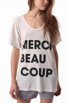 Truly Madly Deeply Merci Tee $19.99