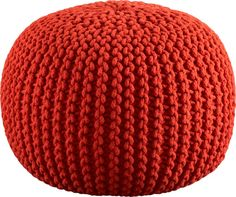 knitted blood orange pouf | CB2  http://www.cb2.com/knitted-blood-orange-pouf/f7083