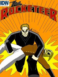 My ipad fan made art comic book cover of rocketeer.