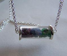 Ruby Emerald Sapphire Raw Gemstone Glass Cylinder by mymysticgems