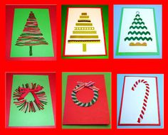 6 Easy, Fun, Homemade Christmas Cards from Learning Ideas - Grades K-8