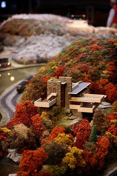 miniature Falling Water at Buhl Science Center