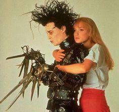 Winona Ryder as Kim Boggs with Johnny Depp as Edward Scissorhands in Edward Scissorhands (1990)