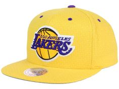 509400b00b69d Los Angeles Lakers Mitchell and Ness NBA Dotted Cotton Snapback Cap Hats  Los Angeles Lakers