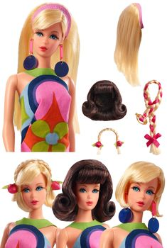 Barbie Mod Friends Gift Set 3 Dolls in Retro Looks New Toy Gift for Kids FS