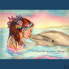 ☆ Mermaid☆ w/dolphin