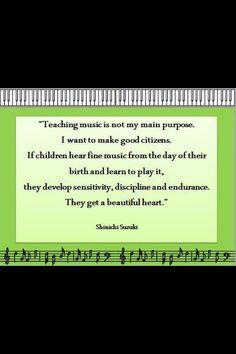 Why we teach music