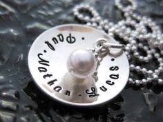 Mommy Jewelry - Personalized Hand Stamped Necklace by BragAboutIt