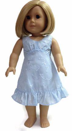 Light Blue Eyelet Dress made for 18 inch American Girl Doll Clothes American Girl Dress, American Doll Clothes, Ag Doll Clothes, American Girls, Dress Outfits, Girl Outfits, Eyelet Dress, Flower Girl Dresses, Doll Dresses