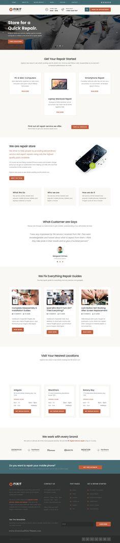 Naples - Phone, Computer Repair Shop Website Template Computer - computer repair flyer template