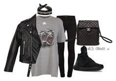 """fallom"" by scarletoliviax on Polyvore featuring J Brand, Givenchy, adidas, Fallon, Nasty Gal and Chanel"