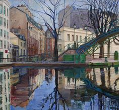 Sue Perry, Canal Quartered, oil on canvas, 26 x 28 inches, copyright ©2008 inches, copyright ©