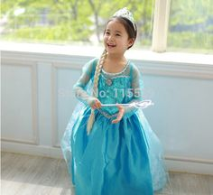 Find More Clothing Information about Freeshipping Frozen Elsa Costume Frozen Anna Dress For Halloween Elsa Dress Girl Cosplay Costume,High Quality dress universe,China costume mustache Suppliers, Cheap dress nina from Party Supplies  on Aliexpress.com