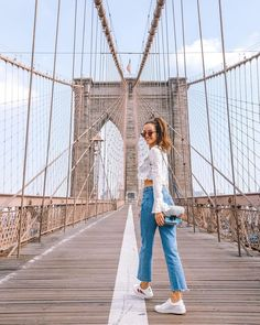 look in our 'Can't Get Enough Top- White Polka Dot'. Shop it now via NYC New York Outfits, City Outfits, Travel Outfits, New York City Pictures, New York Photos, Brooklyn Bridge Pictures, Brooklyn Bridge Park, New York Tumblr, New York Sommer