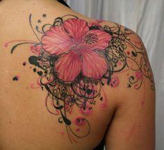 10 Hibiscus Flower Tattoos