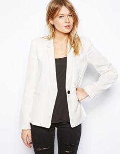 Image 1 ofMango Crepe Tailored Jacket