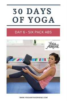 days of yoga - Day Join Adriene on Day 6 of The 30 Days of Yoga Journey! 30 days of yoga - Day Join Adriene on Day 6 of The 30 Days of Yoga Journey! S days of yoga - Day Join Adriene on Day 6 of The 30 Days of Yoga Journey! Yoga Fitness, 30 Day Ab Workout, Free Yoga Videos, 30 Day Yoga, 30 Day Abs, Yoga With Adriene, Six Pack Abs, Restorative Yoga, Yoga Poses For Beginners