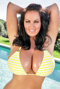 Sarah Nicola Randall takes a dip in the pool