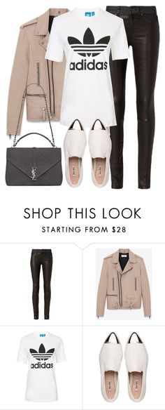 """Untitled #2849"" by elenaday ❤ liked on Polyvore featuring rag & bone, Yves Saint Laurent, Topshop and Miu Miu"