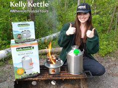 Remember to get your #KellyKettle or #Outdoors Photo Competition entries in to www.kellykettle.com or www.kellykettleusa.com  to be in with a chance of winning some gear! 😊  --  In this picture, Margaret Black, one of last months winners gifted her prize to her eighteen year old daughter Emily.  The picture was taken while camping at MacGregor Point Provincial Park, in Ontario. Emily used her new stove to cook rice for a stir fry and to heat water for dishes. Nice work Emily 😊…