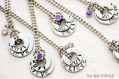 These are so great & Really nice tute! Washer Necklaces Tutorial | The 36th AVENUE