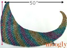 Tango Shawl - Free One Skein #Crochet Pattern on Moogly!