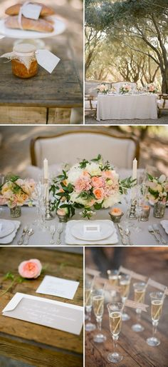 french wedding inspiration DIY wedding planner with di wedding ideas and tips including DIY wedding tutorials and how to instructions. Everything a DIY bride needs to have a fabulous wedding on a budget! French Wedding, Chic Wedding, Wedding Table, Perfect Wedding, Wedding Events, Wedding Styles, Our Wedding, Dream Wedding, Wedding Rustic