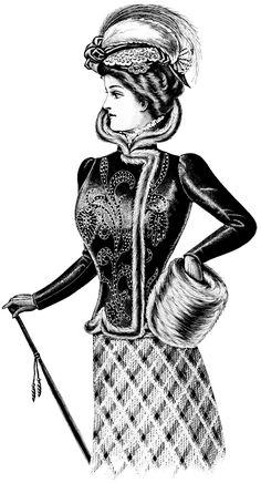 Old Design Shop ~ free digital image: Victorian lady