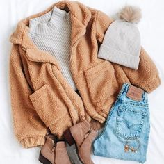 Cozy Teddy Bear Jacket Cozy Teddy Bear Jacket,looks Related posts:Fur Coat Female Casual Woman jacket - Outfit ideasHow To Style The Season's Best Outerwear Winter Outfits For Teen Girls, Cute Fall Outfits, Winter Fashion Outfits, Trendy Outfits, Autumn Fashion, Cozy Winter Outfits, Casual Winter, Junior Outfits, Warm Fall Outfits