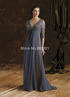 Elegant intellectuality lace V-neck half sleeve Evening Dresses For Pregnant Women $105.00