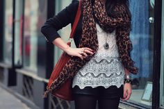 Inspiration Look - LoLoBu-leopard and lace