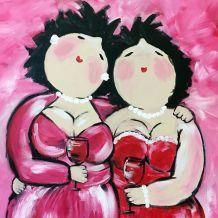 dikke vriendinnen kloddertje roze
