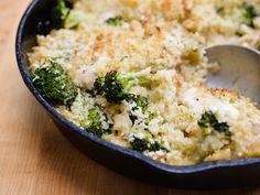 Cheesy Broccoli, Chicken and Rice Casserole recipe  via Food Network