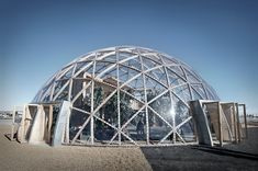 DESIGNBOOM: atelier kristoffer tejlgaard assembles third 'dome of visions' pavilion http://www.davincilifestyle.com/designboom-atelier-kristoffer-tejlgaard-assembles-third-dome-of-visions-pavilion/     located in the danish city of aarhus, 'dome of visions 3.0' forms the third dome in a series of experiments undertaken by architect kristoffer tejlgaard. the ongoing project, referred to as DoV, examines how living inside greenhouse-like enclosures affects our well-being