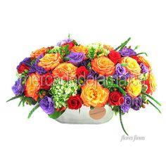 Bellas Flores de Lisianthus en Base Laminada !| Envia Flores