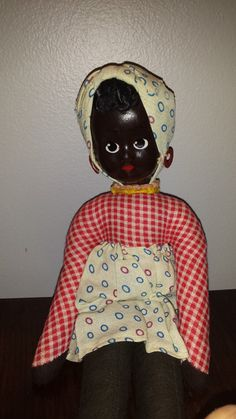 Vintage African American Doll  Poland by 3LittleWitches on Etsy