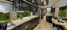 Luxury RVs and Motorhomes from Outlaw Coach Prevost Motor Homes Small Motorhomes, Luxury Motorhomes, Campervan Interior, Rv Interior, Luxury Rv Living, Cool Rvs, Vintage Motorhome, Home Pictures, Living Spaces
