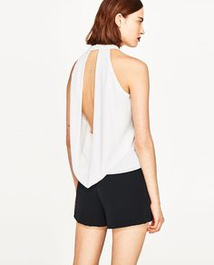 Image 6 of TOP WITH DRAPED BACK from Zara