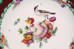 "Marcolini openwork plate - Historical MEISSEN® - ""Bird, fruit and flower pattern"" - 1774-1814"
