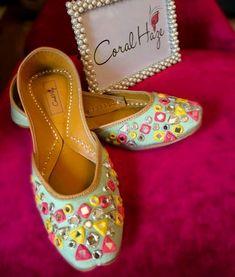 8ca455e0ed4 The gorgeous minty mirror Jutti - ladies shoes of Punjab Click Visit link  to see more. Get your punjabi jutti today. Indian ShoesWedding Shoes BrideMehndi  ...